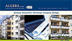 Suchmaschinenoptimierung SEO für ALGEBA GmbH (www.algeba.de) durch Webdesign-Agentur designbetrieb aus Essen