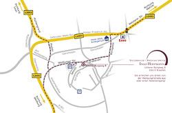 Anfahrtsskizze für Steuerbüro Hoffmann in Braufels von Werbeagentur in Essen entwickelt