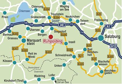 Wegbeschreibung zum Freizeitpark Ruhpolding Detailkarte + Übersichtskarte von Katenspezialist designbetrieb (Werbeagentur in Essen)
