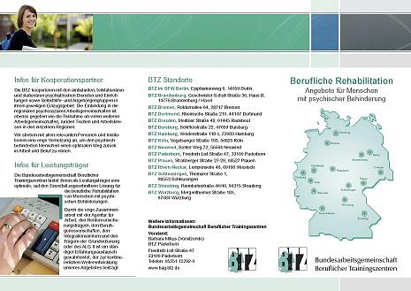 Webdesign-Agentur designbetrieb aus entwirft neuen Flyer für die Bundesarbeitsgemeinschaft Beruflicher Trainingszentren (BAG BTZ)