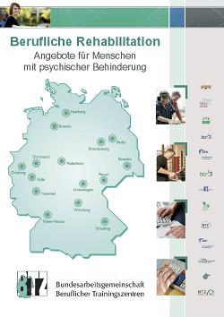 Werbeagentur designbetrieb aus Essen gestaltet Flyer und Plakate für die Bundesarbeitsgemeinschaft Beruflicher Trainingszentren (BAG BTZ)
