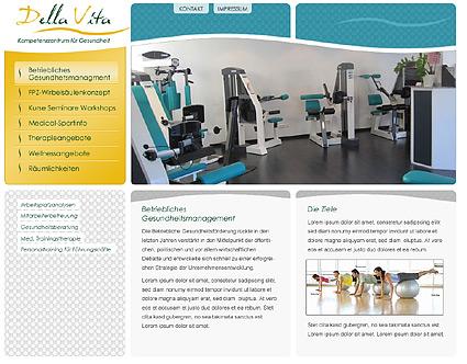 Corporate Design, Logo und Screendesign für Webseite für Della Vita / von Werbeagentur Essen / designbetrieb