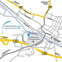 designbetrieb aus Essen  erstellt weitere Anfahrtsskizze Göppingen für Löwenstein Medical GmbH & Co. KG