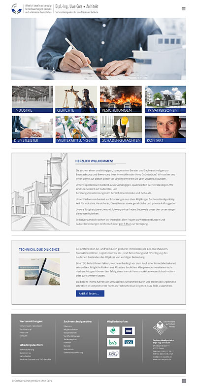 webdesign-agentur designbetrieb relauncht www.cors-experts.de