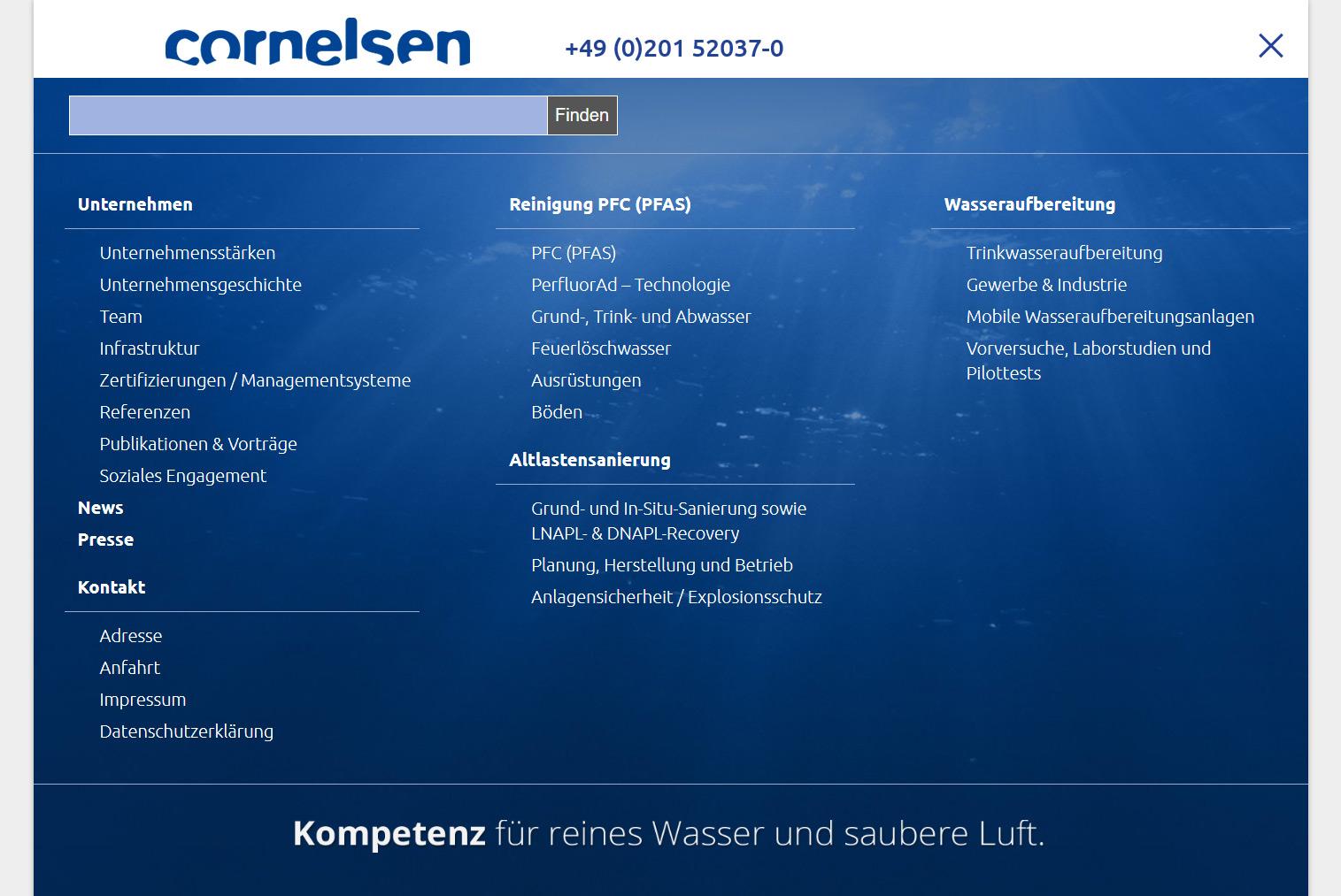 webdesign-agentur designbetrieb relauncht www.cornelsen-umwelt.de
