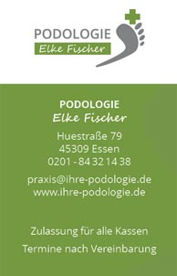 Visitenkarte Podologin Elke Fischer aus Essen