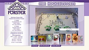 Webdesign-Agentur designbetrieb aus Essen entwicklt und launcht die Webseite www.hochzeitstorten-foerster.de