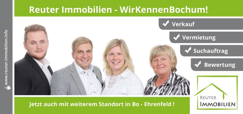 Reuter Immobilien setzt auf neue Werbe-Postwurfsendung:  Jetzt auch mit weiterem Standort in Bo - Ehrenfeld !