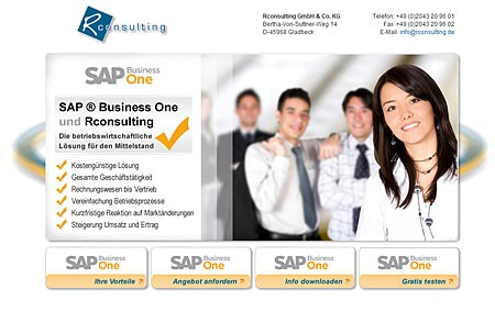 Launch der SAP Business One Landing Page für rconsulting aus Gladbeck