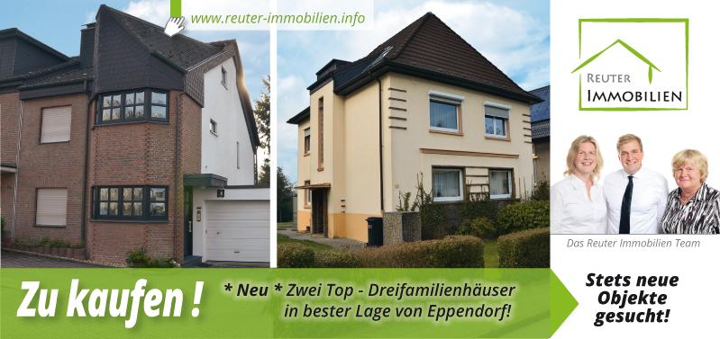Reuter Immobilien setzt auf neue Werbe-Postwurfsendung über die zu verkaufenden zwei Top - Dreifamilienhäuser in bester Lage von Eppendorf!