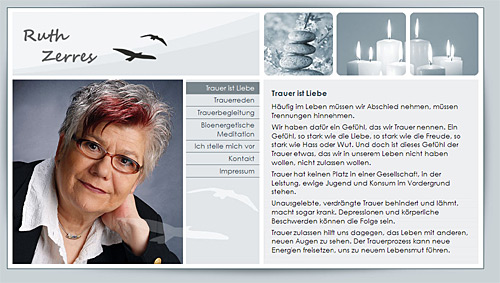Internetauftritt www.ruth-zerres.de