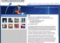 Werbeagentur designbetrieb aus Essen konzipiert und realisiert www.kulik-gmbh.de für die Kulik Metallwarenfabrikation GmbH