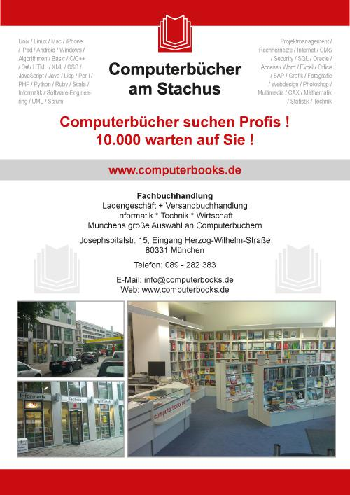 Flyer Computerbücher am Stachus