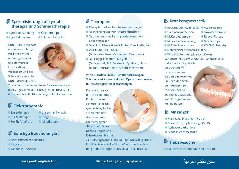 Flyer Physiotherapie Mansoureh K.