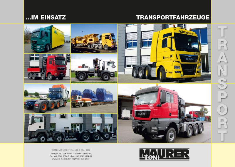Flyer Toni Maurer GmbH & Co. KG