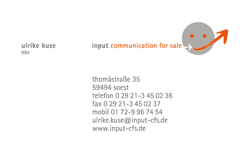 Visitenkarte input communication for sale