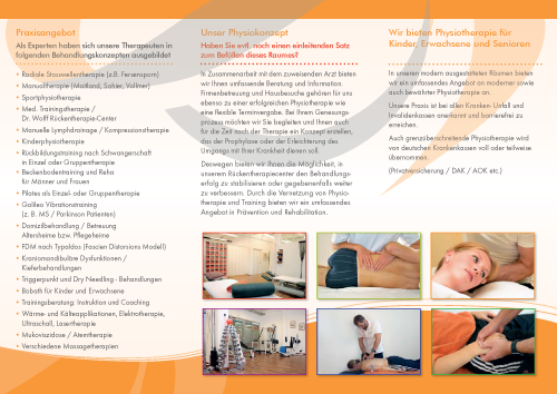Flyer Physioconcept