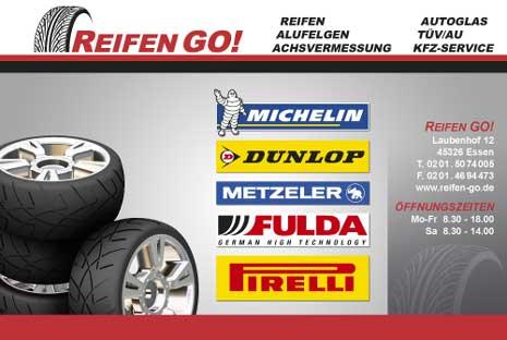 Großfomatiger Banner  für Reifen GO!