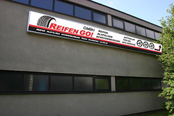 Gebäudebeschriftung für Reifen GO!