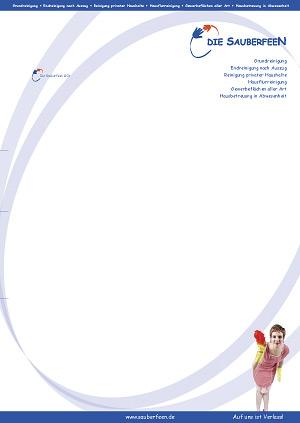 designbetrieb gestaltet Briefbogen für die Sauberfeen