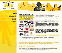 Webdesign-Agentur designbetrieb aus Essen relauncht Verbraucherdienst in Essen www.verbraucherdienst.com
