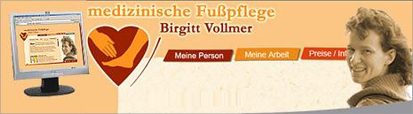 Schaufensterbeschriftung für die Mobile Fußpflegepraxis Birgitt Vollmer in Gelsenkirchen Buer